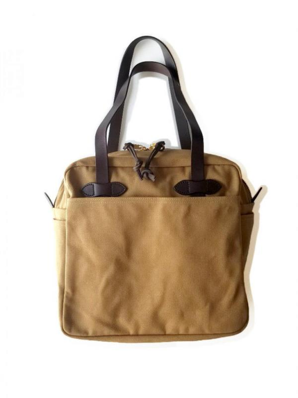 【FILSON】RUGGED TWILL TOTE BAG WITH ZIPPER