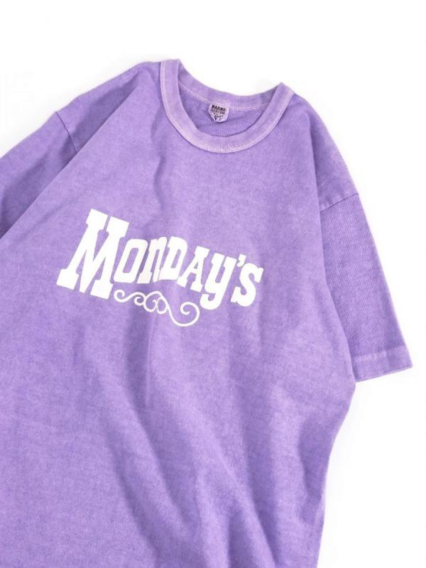 【BARNS OUTFITTERS / バーンズ アウトフィッターズ】 VINTAGE LIKE S/S TEE (MONDAY´s) / ヴィンテージ ライク S/S ティー (MONDAY´s)