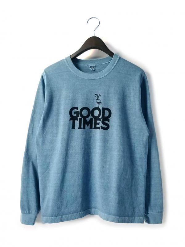 【BARNS OUTFITTERS / バーンズ アウトフィッターズ】 VINTAGE LIKE L/S TEE (GOOD TIMES) / ヴィンテージ ライク L/S ティー (グッドタイムス)