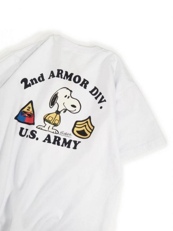 【BUZZ RICKSON'S / バズリクソンズ】PEANUTS S/S TEE (2ND ARMOR DIV.